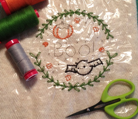 I am still working on the Aurifil 2012 Embroidery block of the month, but it will be finished quite soon.